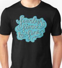 Fearless, Fierce & Fine - Blue & Grey T-Shirt
