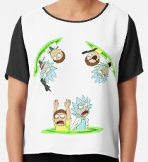 Rick and Morty vs Rick and Morty Chiffon Top