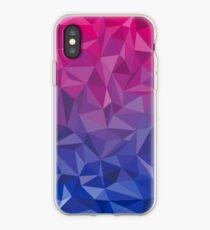 Geometrischer Bi-Stolz iPhone-Hülle & Cover