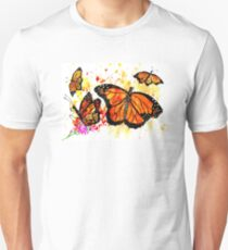 Watercolor Monarch Butterfly 2 Unisex T-Shirt