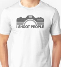 I Shoot People Photography Text Unisex T-Shirt