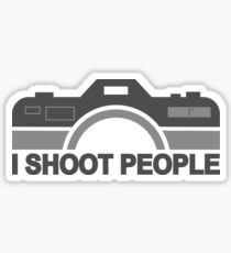 I Shoot People Photography Text Sticker