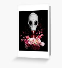 Floral Mask Greeting Card