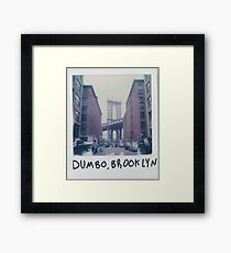 Polaroid Photo - DUMBO, Brooklyn - Zackattack Framed Print