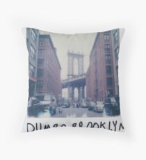 Polaroid Photo - DUMBO, Brooklyn - Zackattack Throw Pillow