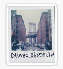 Polaroid Photo - DUMBO, Brooklyn - Zackattack Sticker