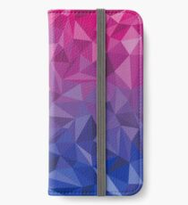 Geometrischer Bi-Stolz iPhone Flip-Case/Hülle/Skin