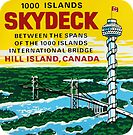 1000 Islands Skydeck Tower Hill Island Ontario Vintage Travel Decal by hilda74