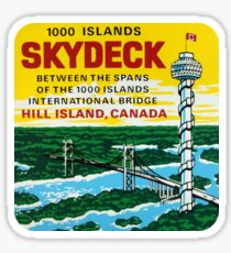 1000 Islands Skydeck Tower Hill Island Ontario Vintage Travel Decal Sticker