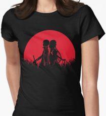 Kirigaya Kazuto Yuuki Red Moon Womens Fitted T-Shirt