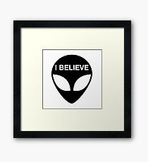 I BELIEVE - ALIEN Framed Print