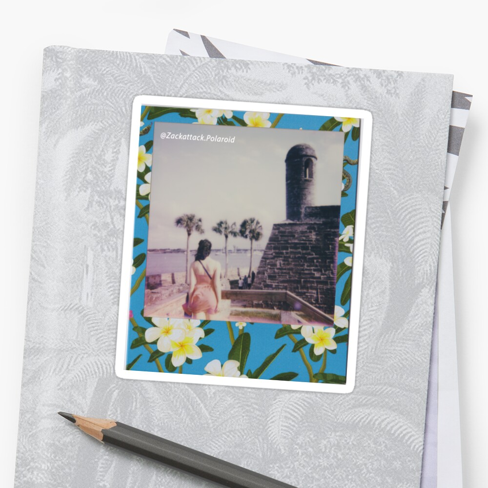 Polaroid Picture - Beautiful St. Augustine Sticker Front