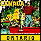 Ontario Fishing Vintage Travel Decal by hilda74