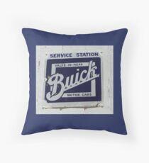 Buick vintage car sign Throw Pillow