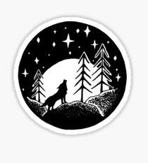 Wolf In The Woods Sticker