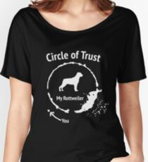 Funny Rottweiler shirt - Circle of Trust Women's Relaxed Fit T-Shirt