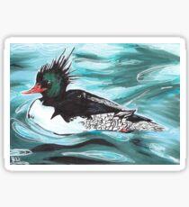Chinese Merganser Duck Sticker