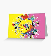 Explosion of Colour Greeting Card