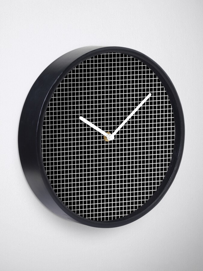 Alternate view of Black and White | Waffle Grid Clock