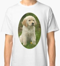 Cute Golden Retriever Puppy Classic T-Shirt