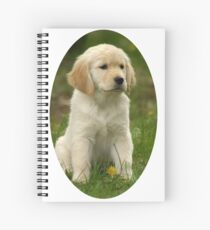 Cute Golden Retriever Puppy Spiral Notebook