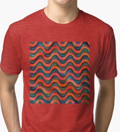 Frozen underwater liquid red waves #DeepDream #Art Tri-blend T-Shirt