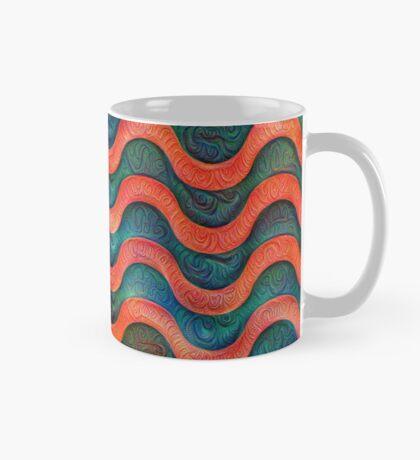 Frozen underwater liquid red waves #DeepDream #Art Mug