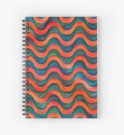 Frozen underwater liquid red waves #DeepDream #Art Spiral Notebook