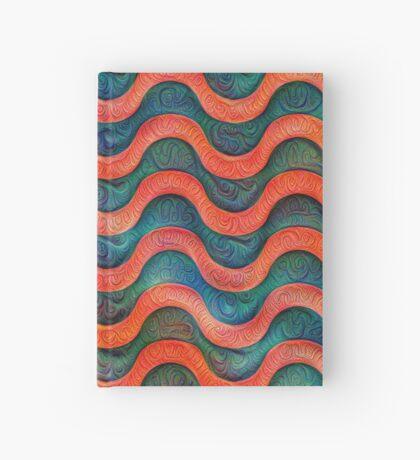 Frozen underwater liquid red waves #DeepDream #Art Hardcover Journal
