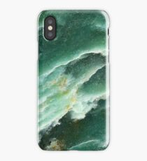 Abstract design in Green. iPhone Case/Skin