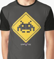 Space Invader Xing Graphic T-Shirt
