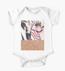 Magenta tropical rose gold Kids Clothes