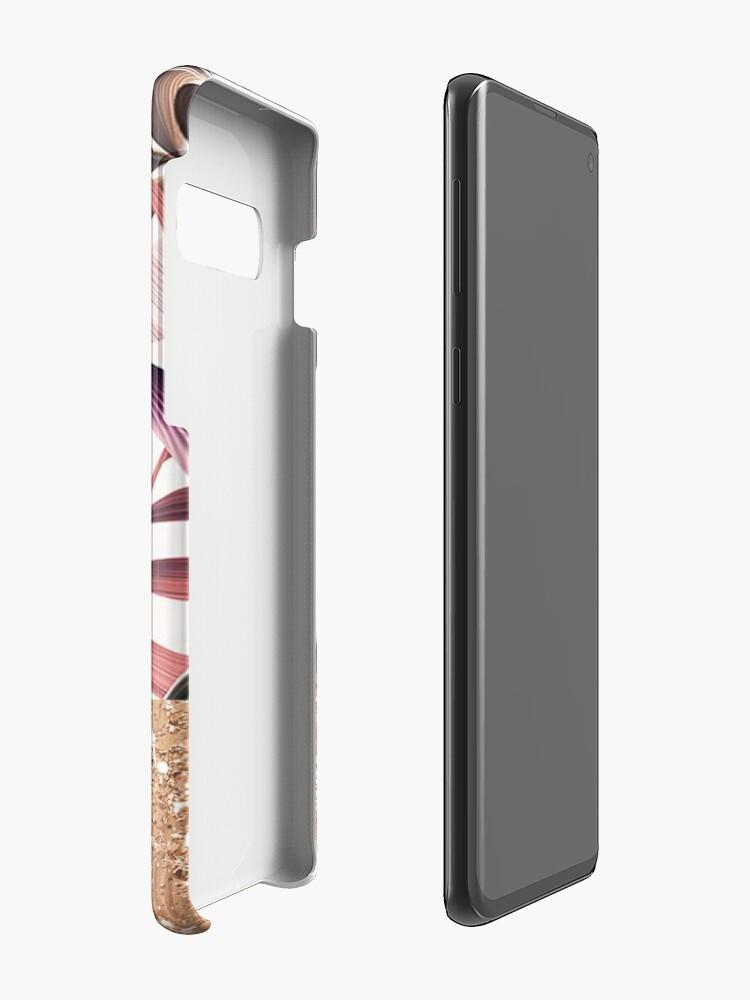 Alternative Ansicht von Magenta tropisches Roségold Hülle & Klebefolie für Samsung Galaxy
