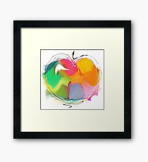 abstract apple Framed Print