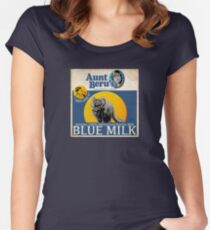 Aunt Beru's Blue Milk : Inspired by Star Wars Women's Fitted Scoop T-Shirt