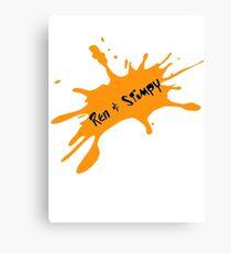 Ren and Stimpy Splatter Canvas Print
