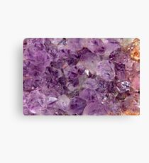 Amethyst Crystals. Canvas Print