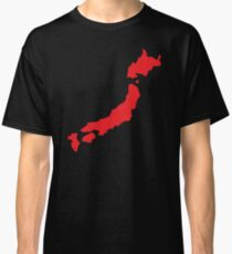 Japan map simple in RED Classic T-Shirt