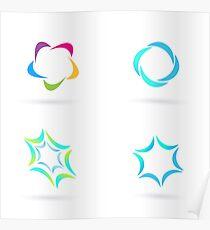 Hand-drawn Logo ICONs on white Poster