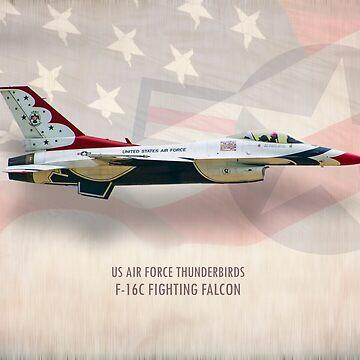 Thunderbirds F-16C Fighting Falcon by aviationart