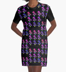 Psychedelic mushrooms Graphic T-Shirt Dress