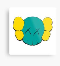 KAWS Head Metal Print
