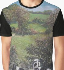 Cows sitting by hill relaxing Graphic T-Shirt