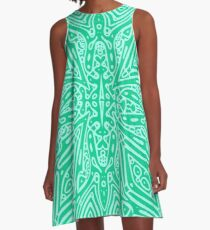 Green Vector A-Line Dress