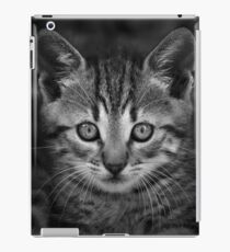 Cute black and wihte cat face iPad Case/Skin