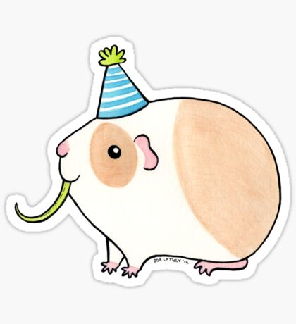 Celebration Guinea-pig Sticker