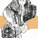 Mastiff Father & Son by BarbBarcikKeith