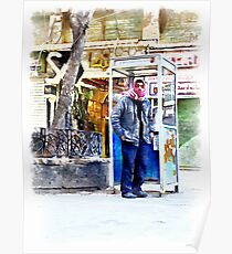 Aleppo: man near the phone booth to Aleppo Poster