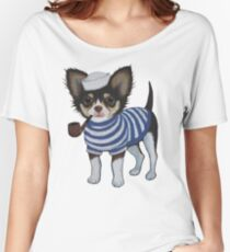 Sailor Chihuahua Women's Relaxed Fit T-Shirt