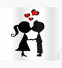 Kissing couple Poster